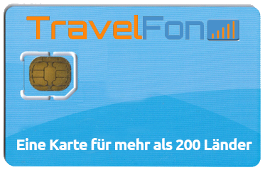 TravelFon Prepaid SIM Karte für USA Virgin Islands inkl. 10 Euro Guthaben